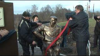 Первый в России памятник трубокладу