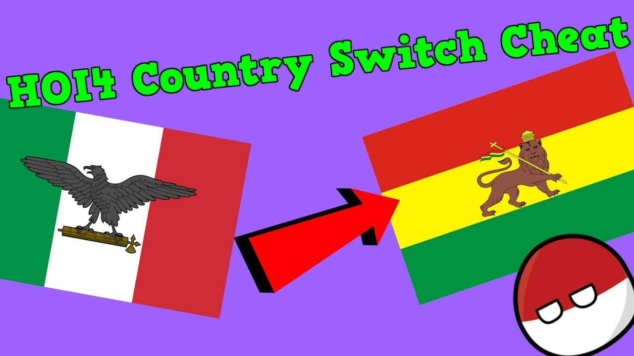 Ironman Country Tag Switch Cheat - Hearts Of Iron 4
