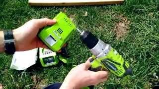 REVIEW: greenworks G24 24v cordless drill