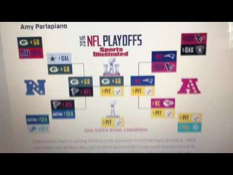 2016-2017 NFL playoff predictions.