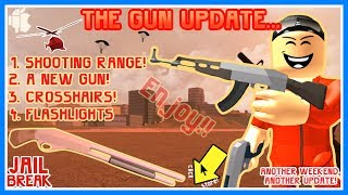 BRANDNEUES GUN-UPDATE!! 🔴 SHOOTING RANGE, FLASHLIGHTS UND DONUTS! (Roblox Jailbreak)
