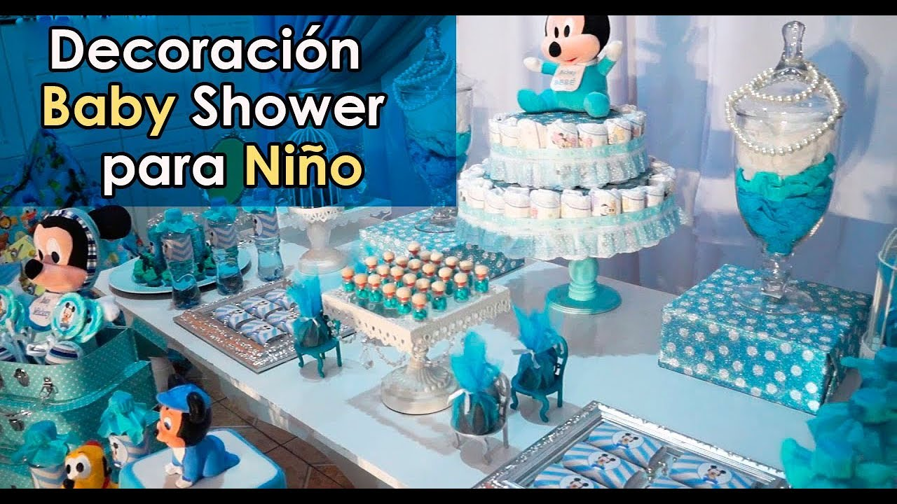 Decoracion de baby shower para ni o youtube for Mesa de dulces para baby shower nino