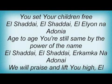 Avalon - El-Shaddai Lyrics