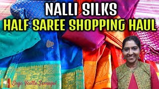 Nalli Shopping Haul | Half Saree Shopping | Shopping Vlog in Tamil