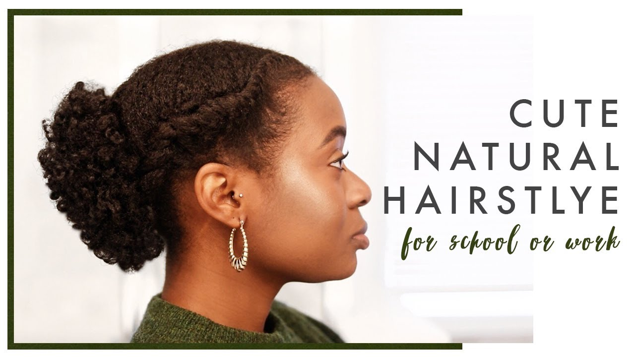 Simple Hairstyle For Short 4c Natural Hair Perfect For School Or Work Youtube