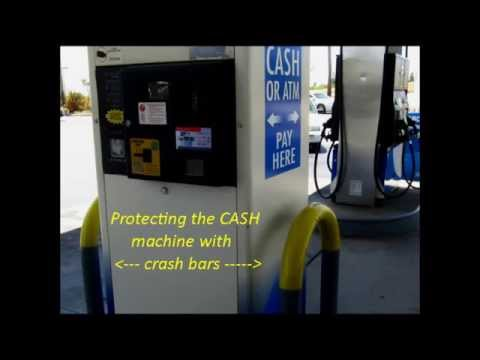 Cash machines & Gas pumps at gas stations
