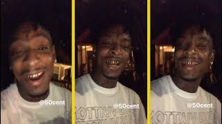 21 Savage Upset At 50 Cent For Taking