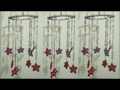 DIY Making Beautiful Hanging showpiece from waste news paper and cardboard