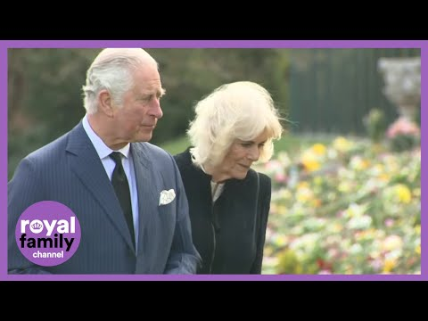 Prince-Charles-and-Camilla-View-Hundreds-of-Tributes-to-Prince-Philip-at-Marlborough-House