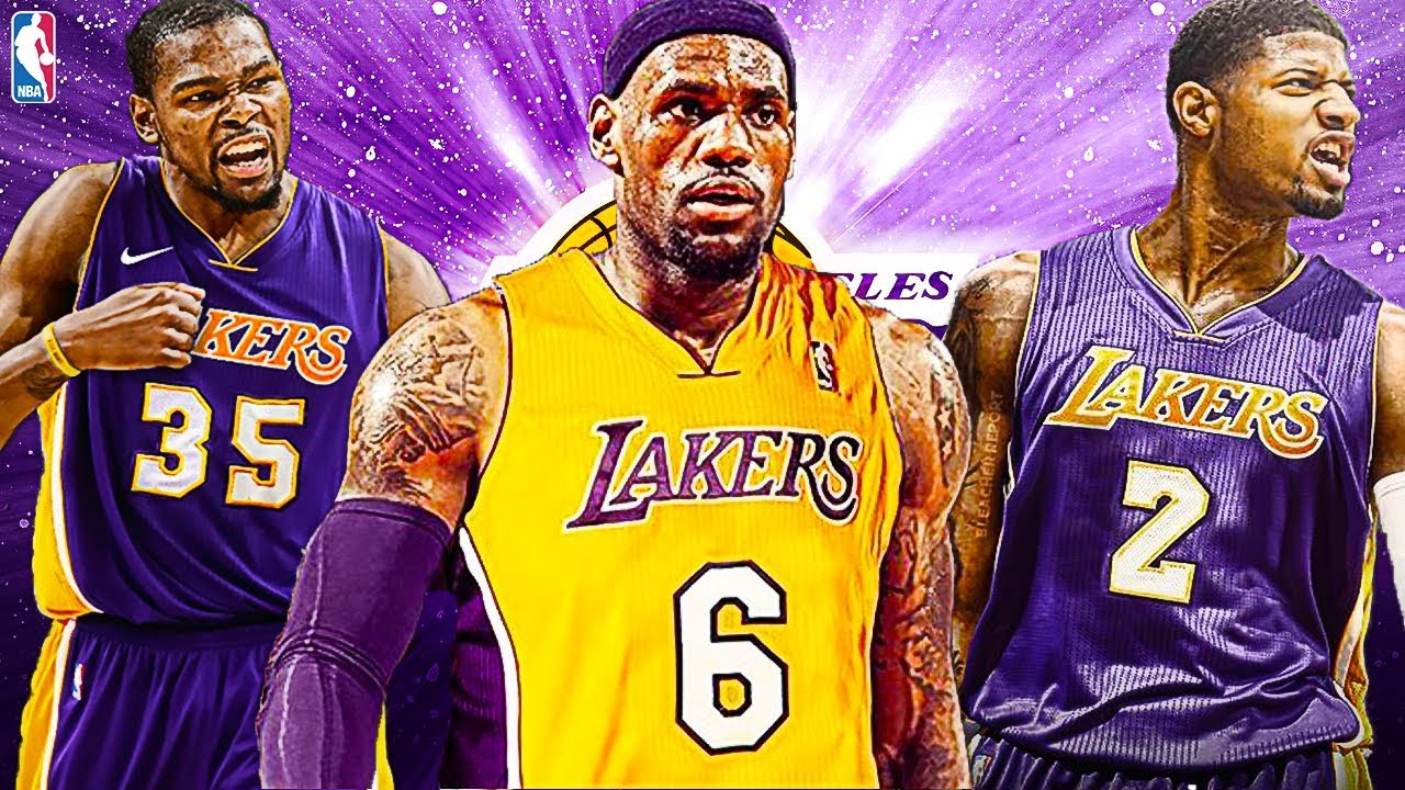 29e6e4b18ccd8 Kevin Durant + Lebron James + Paul George Signing With The Lakers! Los  Angeles Lakers Rebuild!