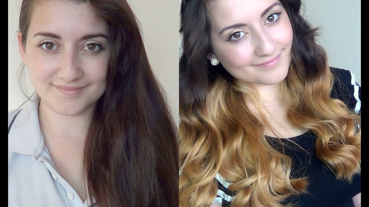 My New Hair Dark Blonde Ombre Youtube