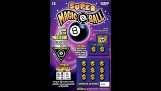 $3 - SUPER MAGIC 8 BALL - WIN! Lottery Bengal Scratch Off instant tickets   NEW TICKET TUESDAY WIN!