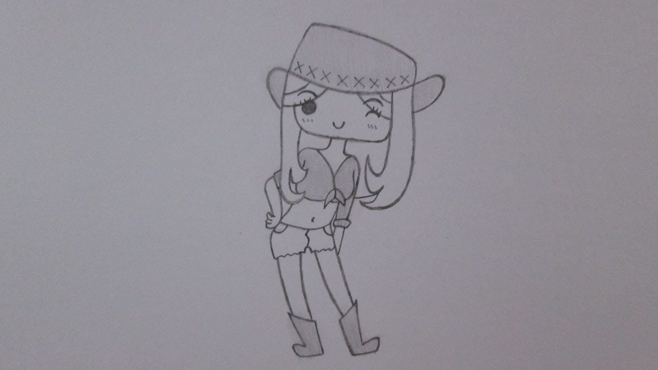 how to draw a cowgirl youtube