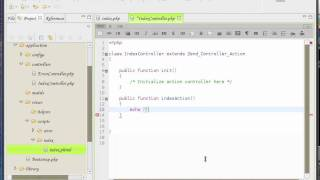 Zend Framework 1.8 tutorial 2 Controller and Viewer interaction part 2