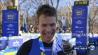 BEN TRUE WINS NYC Half Marathon 2018