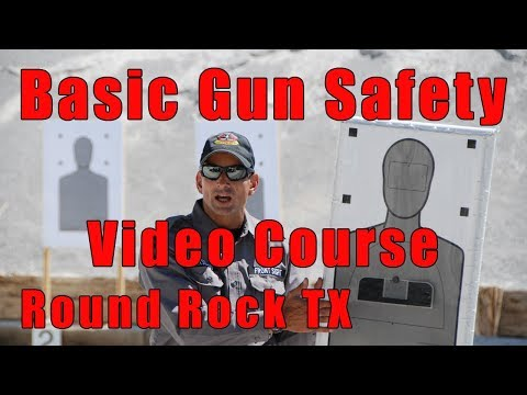 Basic Gun Safety Video Course-Handgun Safety Video Course-Gun Safety Basics Video Course-Round Rock