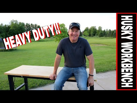 HUSKY HEAVY DUTY 6 Ft. WORKBENCH | TOOL REVIEW TUESDAY!