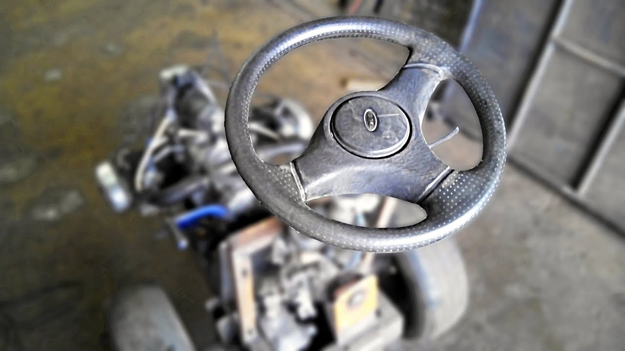 Рулевое управление. Сборка минитрактора (6 серия)