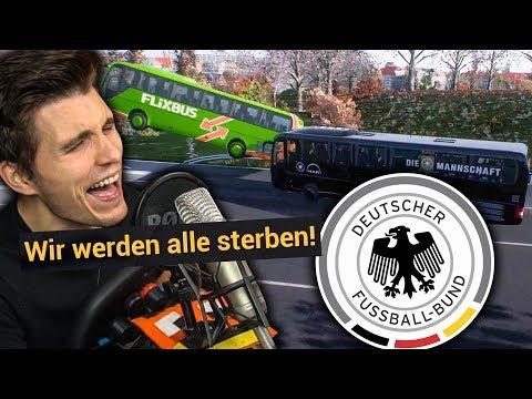 Deutsche Nationalmannschaft zerstört FLIXBUS ✪ Fernbus Simulator mit Lenkrad