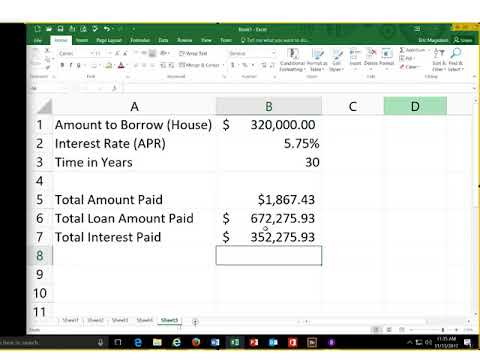 An Introduction to Microsoft Excel's Payment PMT function Building a Dynamic Loan Calculator