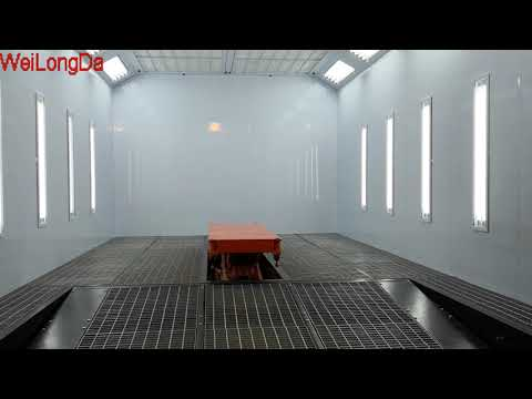 Spray Paint Booth With Inner Car Lifter