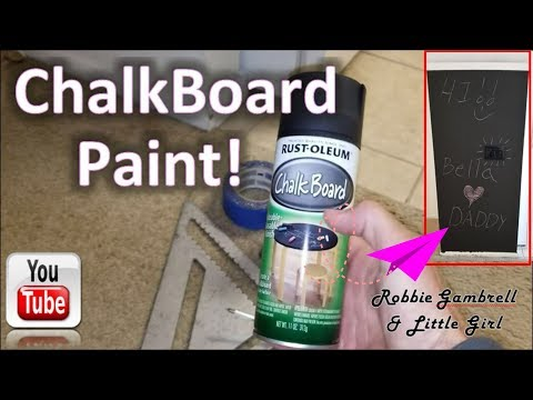 CHALKBOARD PAINT!! Make your walls into art. Easy clean up