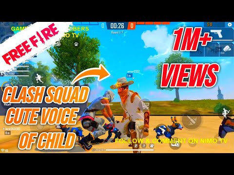 CLASH SQUAD WITH RANDOM PLAYERS IN FREE FIRE LIVE - CUTEST VOICE KID BIRAJ
