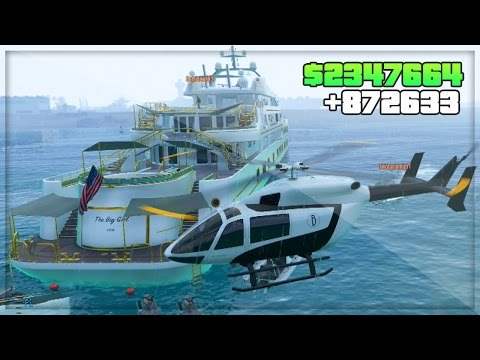 GTA 5 DLC Online! Party Yacht Gameplay $50 Million DLC Spend