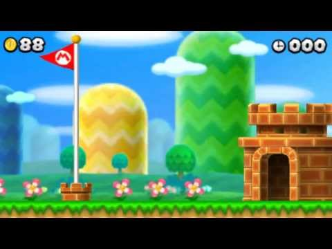 New Super Mario Bros. 2 - 100% Walkthrough - Intro & World 1 (All Star Coins & Secret Exits)