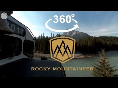 Rocky Mountaineer Train Journey | Click and Rotate to see all around