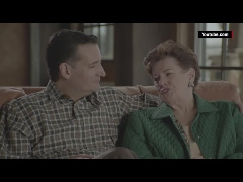Ted Cruz coaching his family through a campaign ad shoot