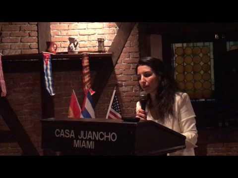 """Resultado de imagem para """"Los que no ayudan a las víctimas del castrismo son cómplices de la opresión"""", dice Rocío Monasterio en Miami"""