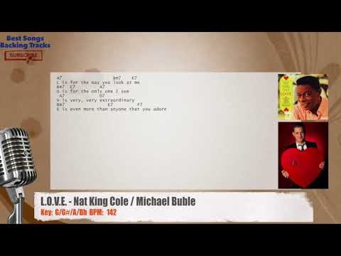 Love Nat King Cole Michael Buble Vocal Backing Track With
