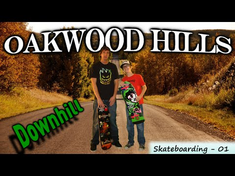 "Me and Dad downhill skateboarding - ""Oakwood Hills Downhill"" (iSkate - 01)"