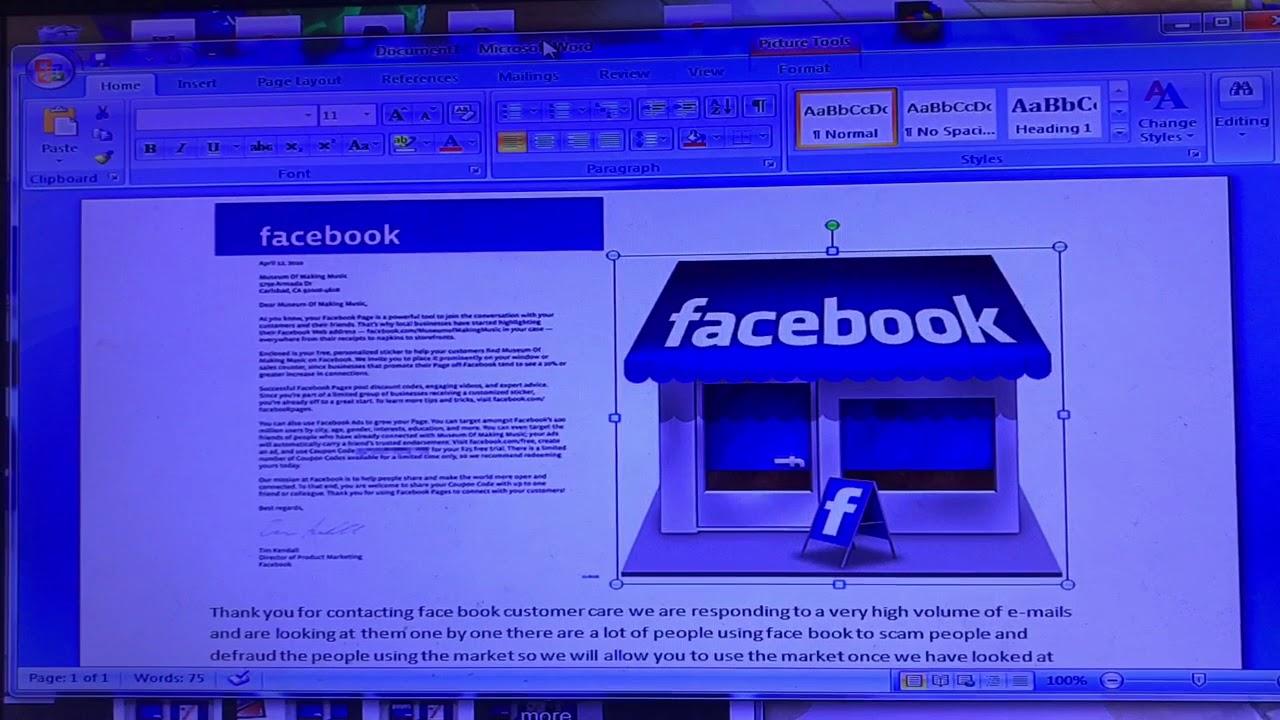 facebook market logo icon not showing up youtube