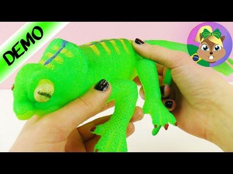 LAGARTO GIGANTE E VISCOSO crescendo na água   Brinquedo GINORMOUS GROW Lizard