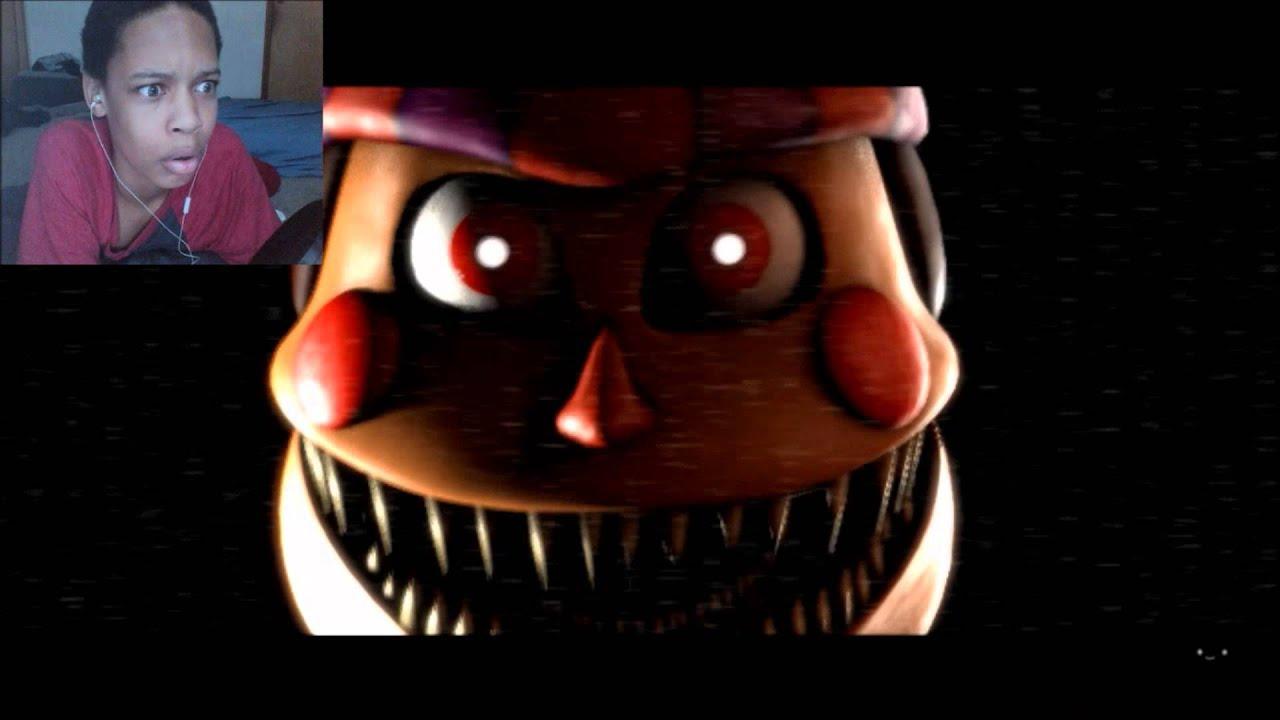 FNAF SFM Nightmare BB Voice REACTION HELLO YouTube