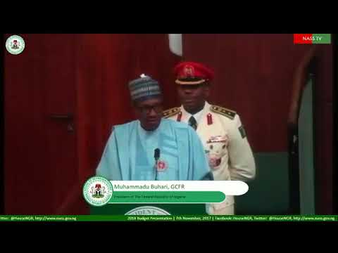 President Muhammadu Buhari, during 2018 Budget presentation to the National Assembly in Abuja