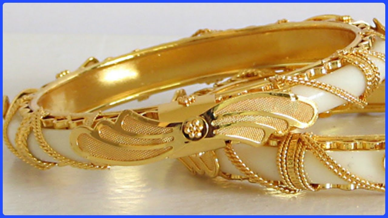 Gold Plated Bangles Designs For Women - YouTube