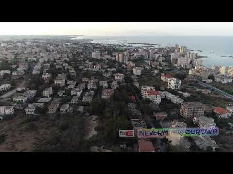 Full drone flight over Europe's largest ghost town Varosha,