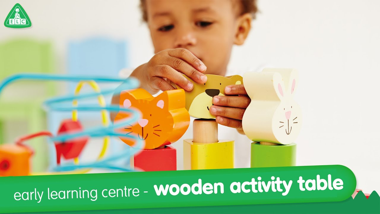 Early Learning Centre Wooden Activity Table - YouTube