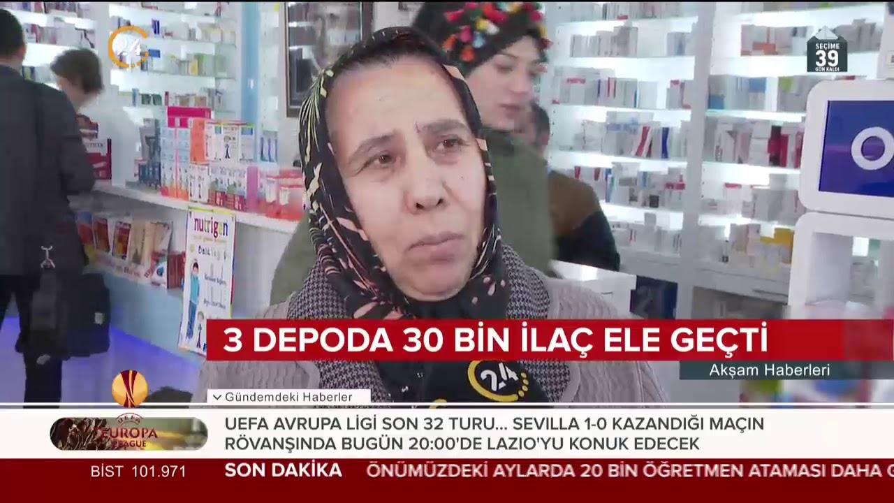İlaç stokçularına baskın 24 TV'de