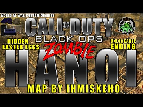 World At War Custom Zombies - Black Ops 1 Hanoi - Unlockable Ending - Map By Ihmiskeho