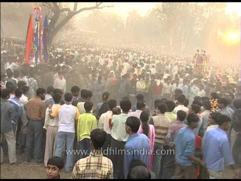 Muslim men griefs on the day of Muharram