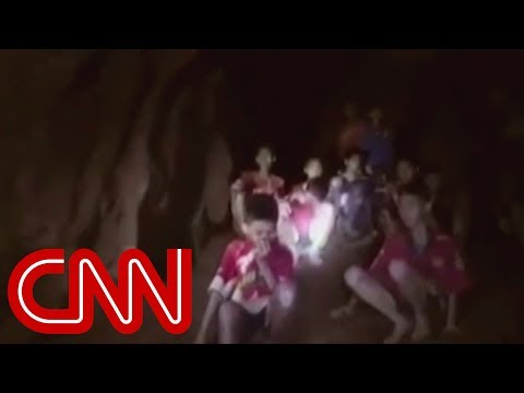 See moment divers reach teens trapped in cave