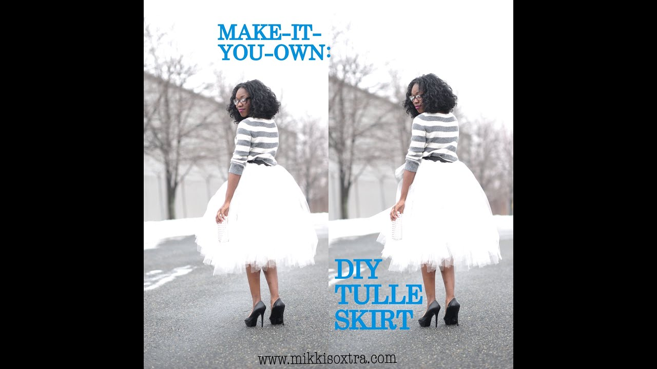 Make It Your Own Tulle Skirt No Sew Method Youtube