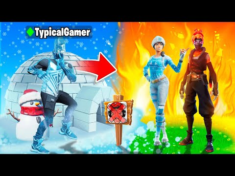 I Went UNDERCOVER in a FIRE vs ICE Tournament! (Fortnite)