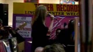 Julie Budd sings  Roses and Rainbows at Tower Records Thumbnail
