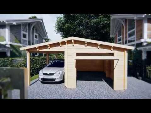 Garage En Carport : Combined garage and carport with up and over door type g