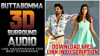 buttabomma-3d-audio-song-ala-vaikunthapurramuloo-armaan-malik-allu-arjun-pooja-hegde3d-songs